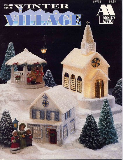 Winter Village Plastic Canvas Pattern Book House Church