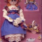 Lorna's Dolls Victorian Style Rag Dolls Vintage Leisure Arts 1048 Full Size Sewing Pattern Book