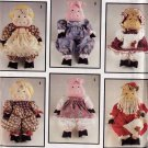 Cute Muslin Pig Doll and 6 Outfits Simplicity 7360 Jiffy Sewing Pattern with Santa Suit