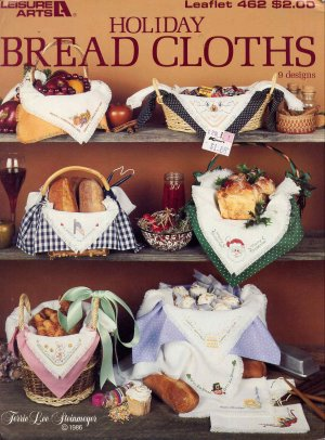 Vintage Holiday Bread Cloths Cross Stitch Patterns by Leisure Arts