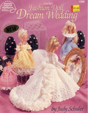 Fashion Doll Dream Wedding Crochet Dress Patterns for Barbie Skipper and Kelly