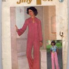 Vintage 70s Jiffy Hanky Hem Hoodie and Pants Sewing Pattern Simplicity 7167--Bust 32.5