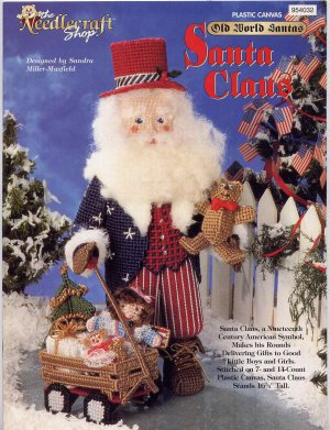 Plastic Canvas Old World Santa Claus Craft Pattern Uncle Sam Doll