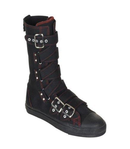 Deviant - Canvas Criss-Cross Strap Calf Sneaker Boot