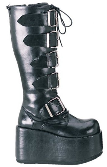 Ripsaw - Men's Knee High Boots with Lace Up Front and Multiple Buckles