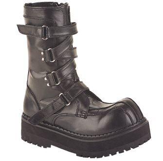 Fierce - Men's Criss Cross Velcro Strap Ankle Boots
