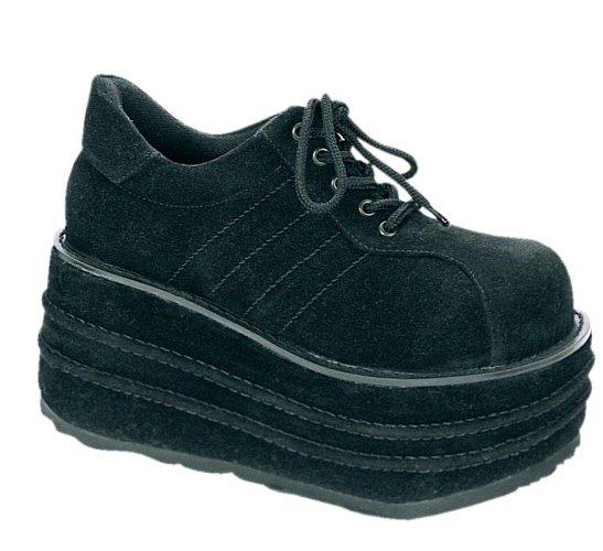 """""""Tempo"""" - Men's Suede Like Lace Up Platform Shoes"""