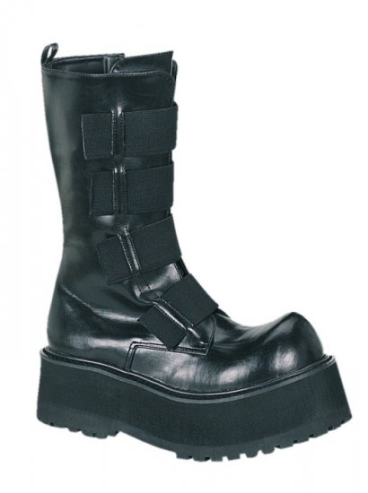 """Combat"" - Men's Zipper Boots with Elastic Front Band"