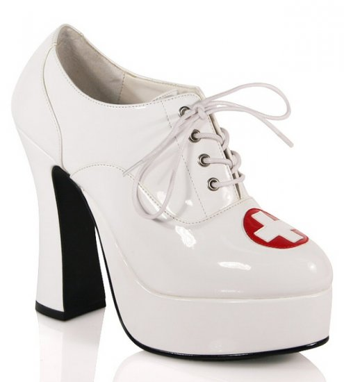"""Dolly"" - Women's Nursing Oxford Style Block Heels/Shoes"