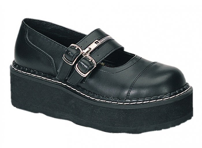 """""""Emily"""" - Women's Two Strap Mary Jane Style Shoes with Zipper"""