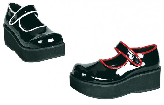 """Sprite"" - Women's Mary Jane Style Shoes with Contrasting Color Trim"