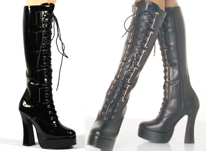 Electra - Women's Knee High Lace Up Boot with D-Eyelettes