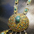 Large Scarab Necklace. Gold with great detailing!