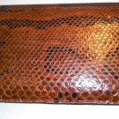 Vintage Snake Skin Brown Clutch/Purse/Handbag! Leather