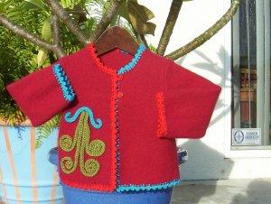 Dressy Wool Felt Sweater
