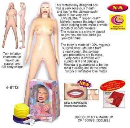 Miranda, Latex Doll