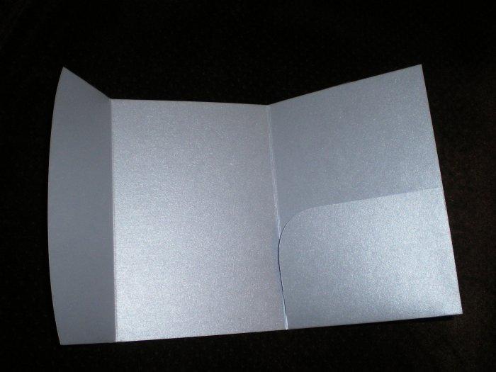 Silver Pocket Fold Invitation Jacket