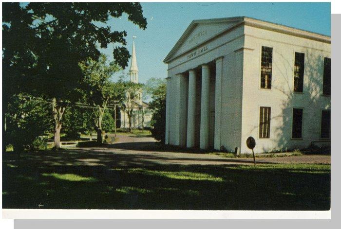 Sandwich, MASS/MA POSTCARD, Town Hall/Steeple, Cape Cod