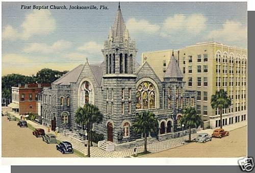 JACKSONVILLE, FLORIDA/FL POSTCARD, First Baptist Church