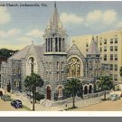 JACKSONVILLE, FLORIDA/FL POSTCARD, First Baptist Church