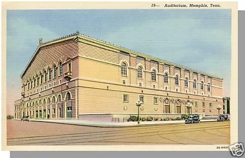 MEMPHIS, TENNESSEE/TN POSTCARD, Auditorium, Near Mint!