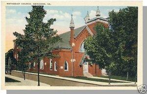 Nice ABINGDON, VIRGINIA/VA  POSTCARD, Methodist Church