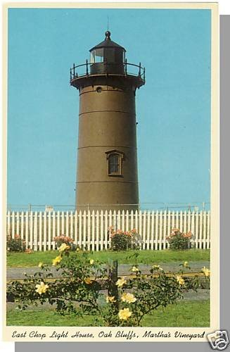 MARTHA'S VINEYARD, MASS/MA POSTCARD,E Chop Light, Cape