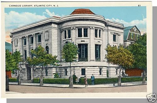 ATLANTIC CITY, NEW JERSEY/NJ POSTCARD, Carnegie Library