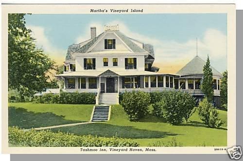 MARTHA'S VINEYARD, MASS/MA POSTCARD ,Tashmoo Inn, Cape
