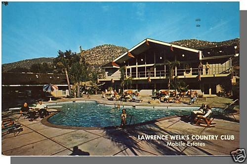 LAWRENCE WELK'S COUNTRY CLUB POSTCARD, Escondido CA