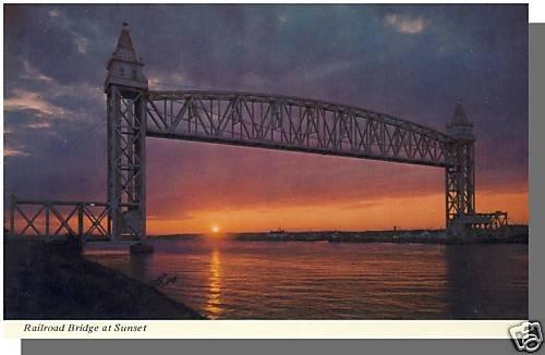 BUZZARDS BAY, MASS/MA POSTCARD,Railroad Bridge/Cape Cod