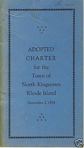NORTH KINGSTON, RHODE ISLAND/RI, 1954 Adopted Charter