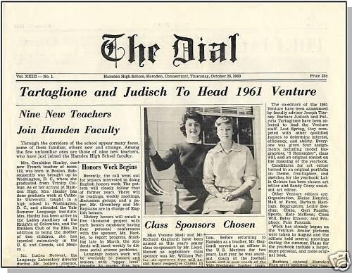 1960 HAMDEN, CONN/CT HIGH SCHOOL NEWSPAPER, The Dial
