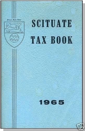 1965 SCITUATE, RHODE ISLAND/RI, Vintage Tax Book