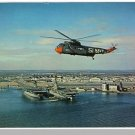 QUONSET POINT, RHODE ISLAND/RI POSTCARD, Helicopter