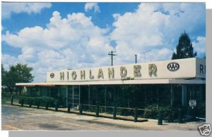 LAKE WALES, FLORIDA/FL POSTCARD, Highlander Restaurant