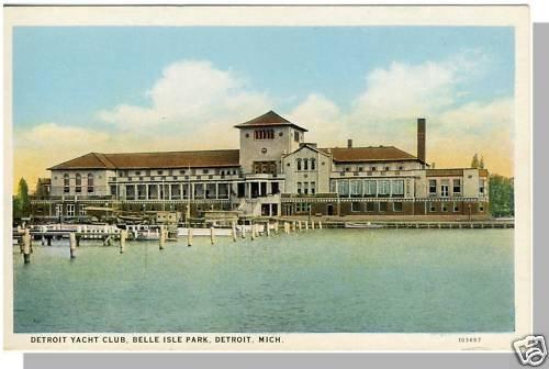 DETROIT, MICHIGAN/MI POSTCARD, Belle Isle/Yacht Club