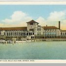 DETROIT, MICHIGAN/MI POSTCARD, Belle Isle/Yacht Club