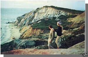MARTHA'S VINEYARD, MASS/MA POSTCARD, Cliffs, Cape Cod