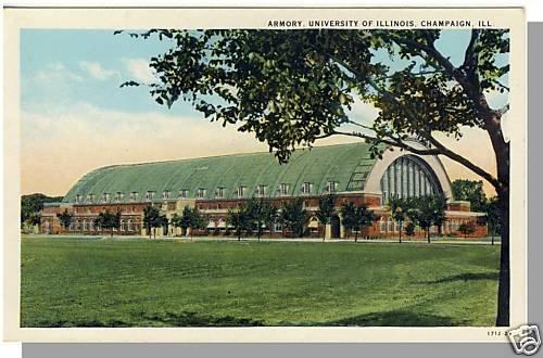 CHAMPAIGN, ILLINOIS/IL POSTCARD, Armory, University IL
