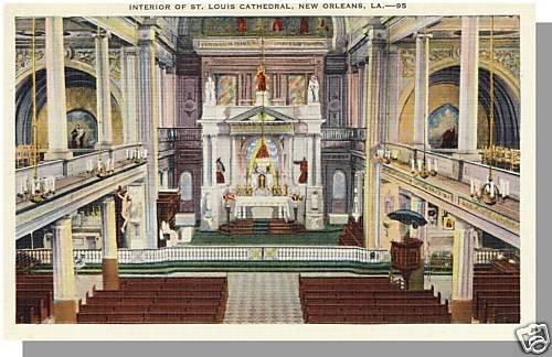 NEW ORLEANS, LOUISIANA/LA POSTCARD, St Louis Cathederal