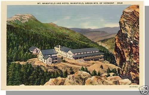 GREEN MOUNTAINS, VERMONT/VT POSTCARD, Hotel Mansfield