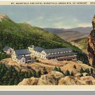 GREEN MOUNTAINS, VERMONT/VT POSTCARD, Hotel Mansfield