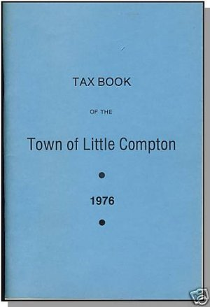 LITTLE COMPTON, RHODE ISLAND/RI, Vintage Tax Book, 1976