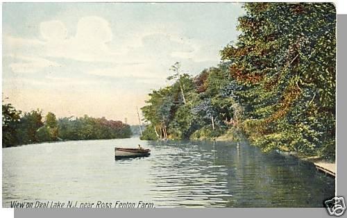 DEAL LAKE, NEW JERSEY/NJ POSTCARD, Ross Fenton Farm