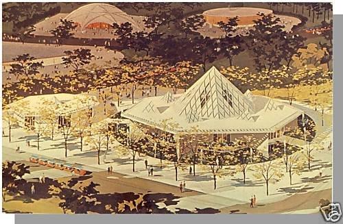 NEW YORK/NY POSTCARD, Christian Pavilion, World's Fair