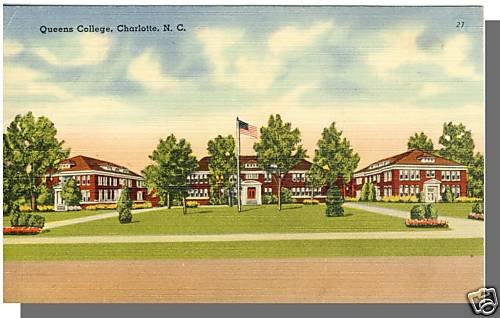 CHARLOTTE, NORTH CAROLINA/NC POSTCARD, Queens College