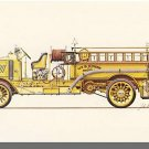 New FIRE ENGINE POSTCARD, 1915 Mack AC Rotary Pumper