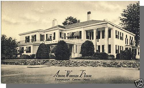 Early FRAMINGHAM, MASS/MA POSTCARD, Abner Wheeler House