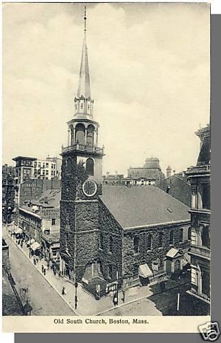 Early BOSTON, MASS/MA POSTCARD, Old South Church